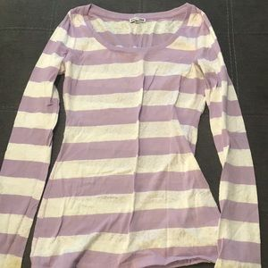 Striped Long Sleeve (lace)